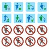 Icônes d'ordures réglées Photographie stock libre de droits