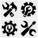 Icônes d'outils réglées sur le gris Images stock