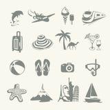 Icônes d'été Photographie stock libre de droits