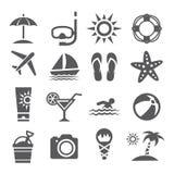 Icônes d'été Photos stock