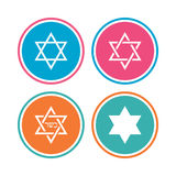 Icônes d'étoile de David Symbole de l'Israël Image stock