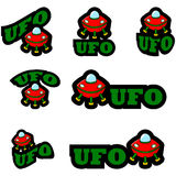 Icônes d'UFO Images libres de droits