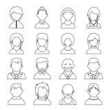 Icônes d'utilisateur Photographie stock