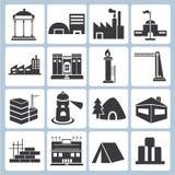 Icônes de bâtiment Image libre de droits