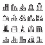 Icônes de bâtiment Image stock