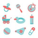 Icônes de bébé Photos libres de droits