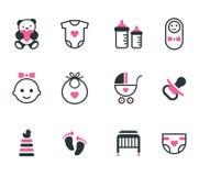 Icônes de bébé Image libre de droits