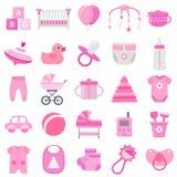 Icônes de bébé réglées Illustration de vecteur illustration de vecteur