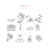 Icônes de ballet réglées Photos stock