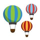 Icônes de ballon à air Image stock
