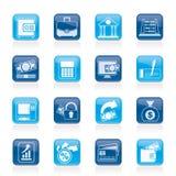 Icônes de banque, d'affaires et de finances Photos libres de droits