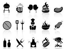Icônes de barbecue Photos libres de droits