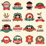Icônes de barbecue Photographie stock libre de droits
