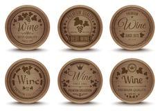Icônes de barils de vin réglées illustration de vecteur