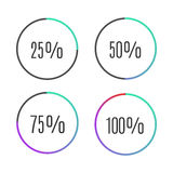 Icônes de barre de progrès Images stock