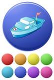Icônes de bateau Images stock