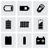Icônes de batery de vecteur réglées Photographie stock