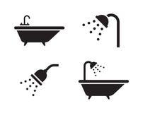 Icônes de Bath Images libres de droits