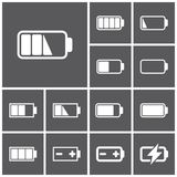 Icônes de batterie Images stock