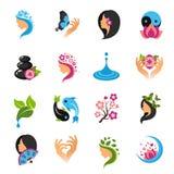 Icônes de beauté réglées Image stock