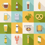 Icônes de bière Images libres de droits