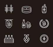 Icônes de bière Image libre de droits