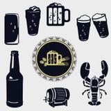 Icônes de bière Photo stock