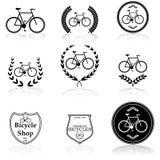 Icônes de bicyclette Photos libres de droits