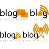 Icônes de blog illustration de vecteur