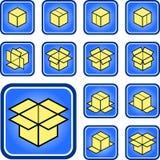 Icônes de boîte Photo stock