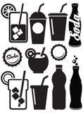 Icônes de boissons de soude Photos libres de droits