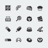 Icônes de bonbons à vecteur réglées Photographie stock libre de droits