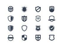 Icônes de bouclier Images stock