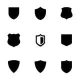 Icônes de bouclier de vecteur réglées Photos libres de droits