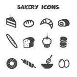 Icônes de boulangerie Photos libres de droits