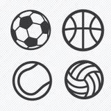 Icônes de boule réglées Images libres de droits