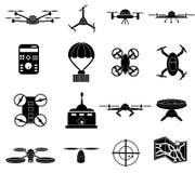 Icônes de bourdons réglées illustration de vecteur