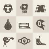 Icônes de boxe Images libres de droits