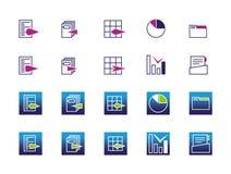 Icônes de bureau et d'affaires Images libres de droits