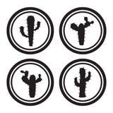 Icônes de cactus Image stock