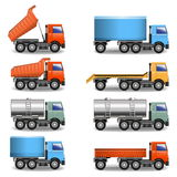 Icônes de camion de vecteur Illustration Libre de Droits