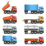Icônes de camion de vecteur Photos libres de droits