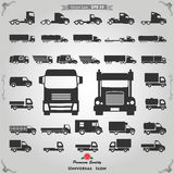 Icônes de camion réglées Images stock