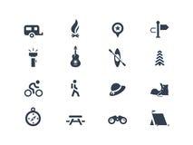 Icônes de camping Images libres de droits
