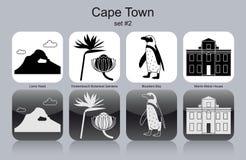 Icônes de Cape Town illustration de vecteur