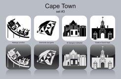 Icônes de Cape Town illustration libre de droits