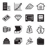 icônes de capitaux réglées Photo libre de droits