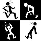 Icônes de caractère Photos libres de droits