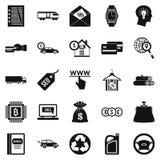 Icônes de caractère raisonnable réglées, style simple illustration de vecteur