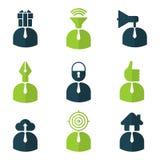 icônes de caractères de personnes Image stock